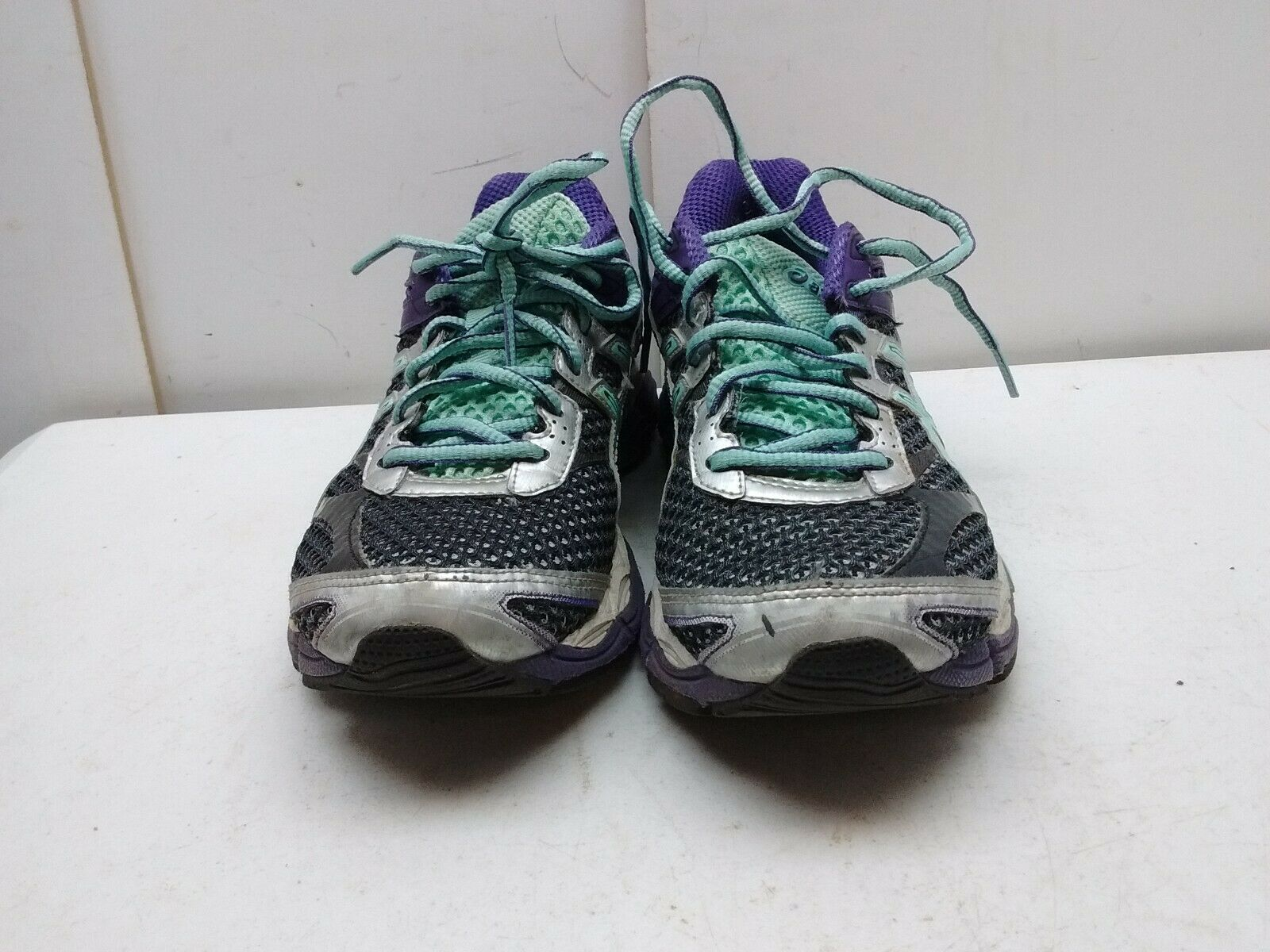 Asics Gel Cumulus Black bluee bluee bluee Mesh Athletic Sneaker Lace Running Women shoes 7M 38 921ba9