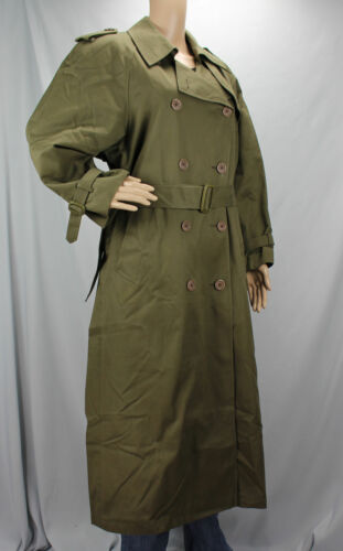 10 Green Investments Olive Med Ladies Coat Insert Double Size Breasted Trench w1AHqCv
