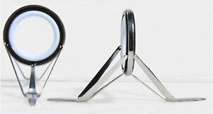 American-Tackle-Sz-8-16-White-Ceramic-Aluminium-Oxide-Guides-SS-Frame