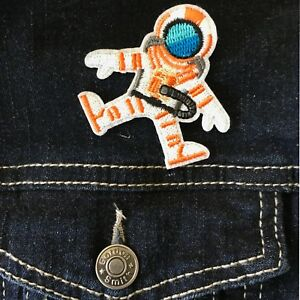 Astronaut-Iron-on-patch-Space-travel-hero-ISS-planet-moon-embroidery-patches