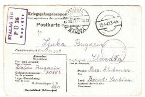 Allemagne * Pow Camp * Carte De La Serbie Ilandza Censor 1943 Ww2 {samwells} Ma17 Et Aide à La Digestion