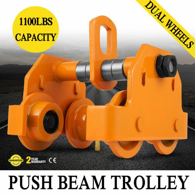 V-Lift Industrial 1//2 Ton Push Beam Trolley 1,102 lbs WLL 1//2T