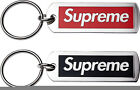 New  supreme red black box logo keychain metallic tag polished