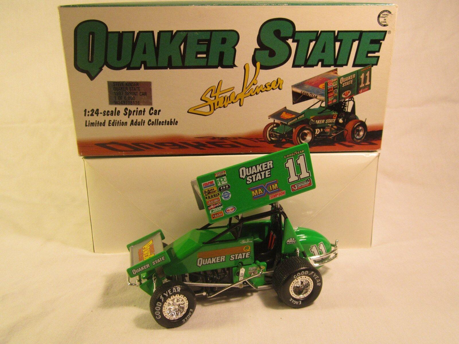 1 24 STEVE KINSER Sprint Car QUAKER STATE Action 1997 1 of 6,000 [Y125]