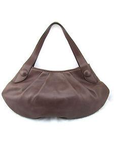 950-BRUNO-MAGLI-Faye-Vitello-Bottalato-Brown-Leather-Large-Hobo-Shoulder-Bag