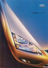 Ford Focus 2005-06 UK Market Brochure ST Titanium Ghia Zetec Sport LX Studio