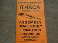 Ithaca Model 37 And Model 87 Shotgun Manual 34 Pg.