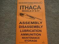 Ithaca Model 37 And Model 87 Shotgun Manual 34 Pg.