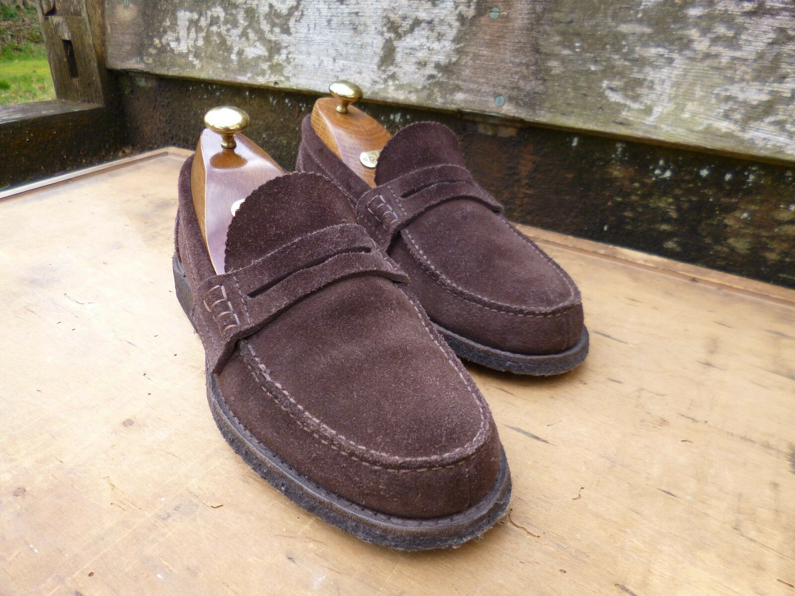 CHURCH  LOAFERS – BROWN SUEDE – UK 6 – PEMBREY – EXCELLENT CONDITION