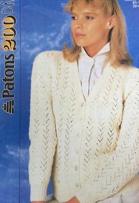 Patons  4ply Knitting Pattern Ladies  Sweater Jumper  Size 32//42/""