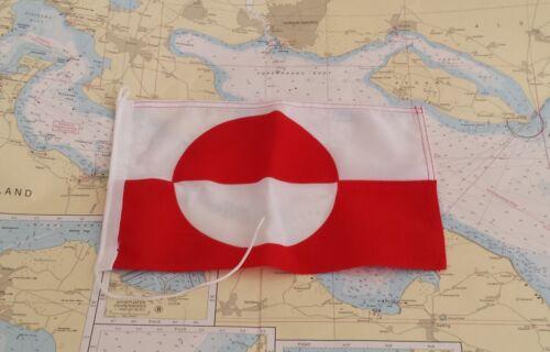 Größen bis 30 cm robuster Stoff Gastlandflagge Grönland versch Versandfrei