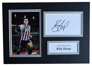 Billy-Sharp-Signed-Autograph-A4-photo-display-Sheffield-United-Football-amp-COA