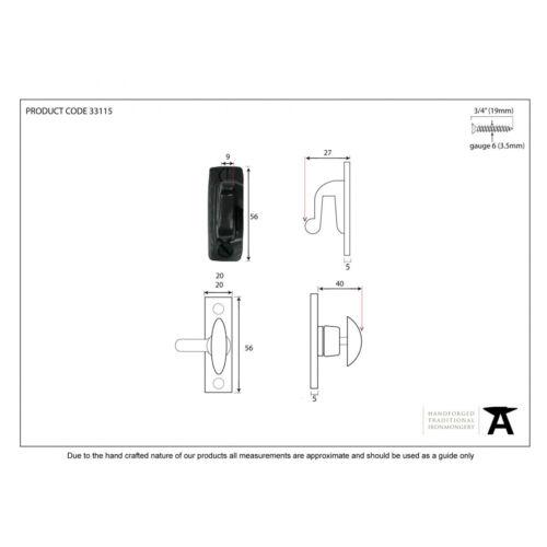 Anvil 33115 Noir Armoire Tour traditionnelle période ATC