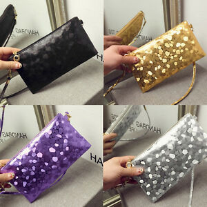 Women-Glitter-Sequins-Handbag-Party-Evening-Envelope-Clutch-Bag-Wallet-Purse-YF