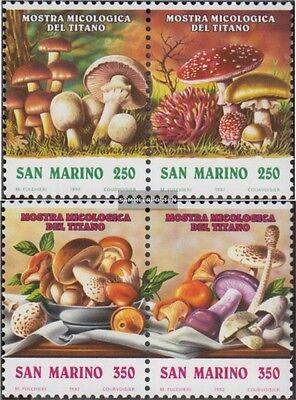 Unter Der Voraussetzung San Marino 1516-1519 Paare kompl.ausg. Postfrisch 1992 Pilz-ausstellung