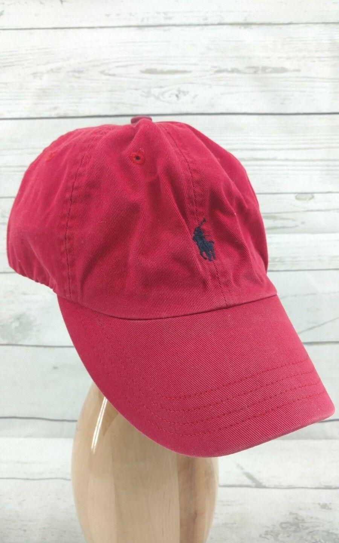 Distressed Lauren Polo Ralph Lauren Distressed Adjustable Strap Pony Logo Hat Cap One Size Red d4e8af
