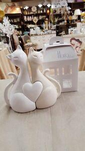 Bomboniere Matrimonio Gatti.Bomboniera Matrimonio Coppia Gatti In Ceramica Cod A 10280 2058