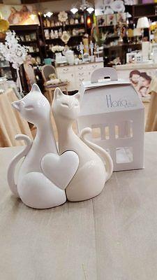 Bomboniere Matrimonio Gatti.Bomboniera Matrimonio Coppia Gatti In Ceramica Cod A 10280 2058 Ebay
