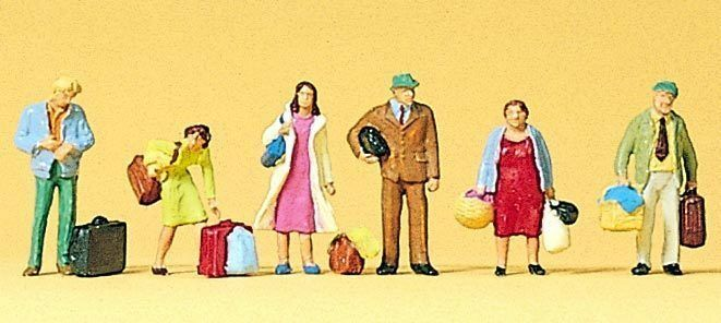 Figuras preiser TT (75001)  viajeros, de pie pie pie 4fc598