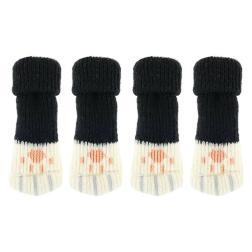 4Pcs Table Chair Leg Furniture Feet Covers Pad Knit Socks Sleeve Floor Protector