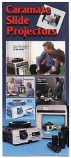 "1986 Sales Brochure - ""CARAMATE SLIDE PROJECTORS"""