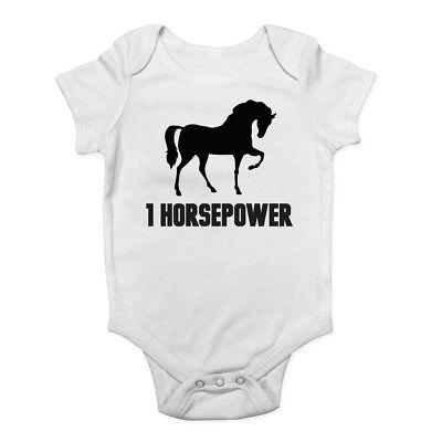 1 Cavalli Ragazzi Ragazze Baby Grow Canotta Body- Modellazione Duratura