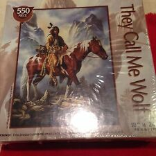Sealed -They Call Me Wolf Jigsaw Puzzle 550pc in Mint Condition  Nice Gift!