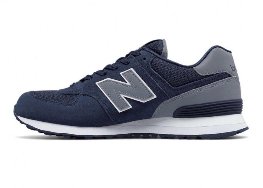 New balance ml574cne männer sportschuhe größe blau reflektierendem neu!