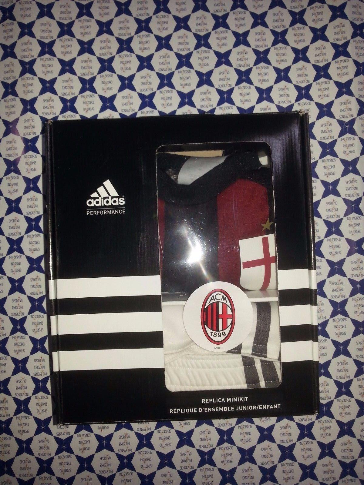 Set Adidas Milan Bambino a 2015 16 - T-Shirt + Short red black Casa - S11840 78