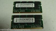 Lot of 2x 1GB DDR1 DDR-333 PC-2700S CL2.5 SO-DIMM Laptop Ram Memory