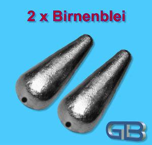 2-x-Birnenblei-Inliner-20g-30g-40g-50g-60g-Durchlaufblei-Blei-Angelblei