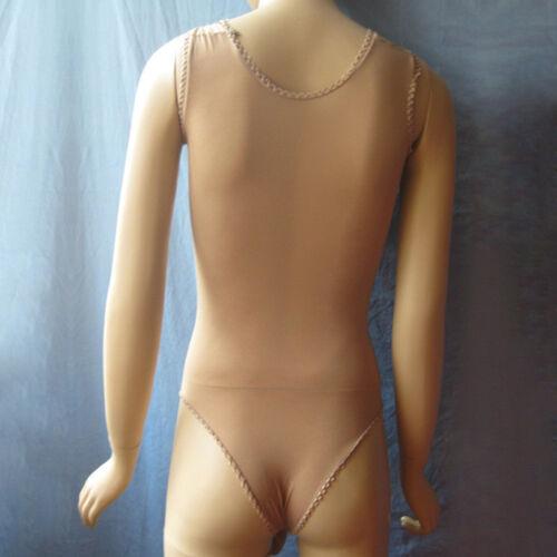 Nouveau Hommes Velvet Bodystocking bodyhose semi-transparent body blanc JJ coffre fermé