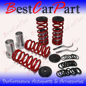 BCP-92-96-Honda-Prelude-Adjustable-Lowering-Coilover-Coil-Spring-Suspension-RED