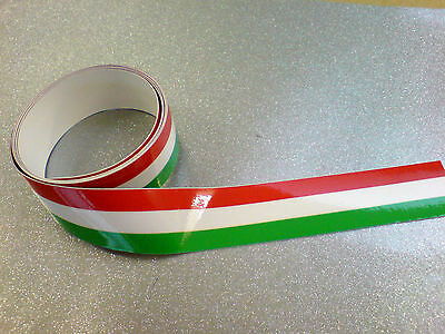 """CHEQUERED TAPE COLOURED 50/"""" x 2/"""" Strip LAMINATED for extra durability 1 off"""