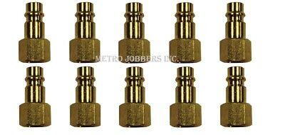 "Milton 761 1//4/"" FNPT /""V/"" Style HI-FLOW Brass Plug 1//10 Fast Free S/&H"