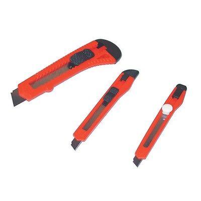 3 Stück Cuttermesser Teppichmesser Set, Abbrechklinge Abbrechmesser Messer Satz
