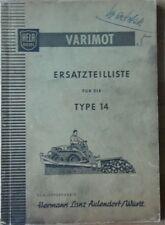 Hela varimot tipo 14 de repuestos lista