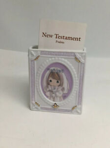 Precious-Moments-Porcelain-First-Communion-Bible-And-Holder-Pink-4-1-2-High
