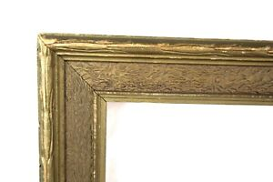 "Antique Art Nouveau Ornate Gold Gilt Gesso Photo Picture Frame Fits 16"" x 13"""