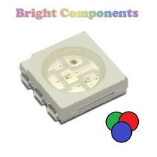 10 x RGB PLCC-6 LED (SMD SMT 5050) - Ultra Bright - UK - 1st CLASS POST