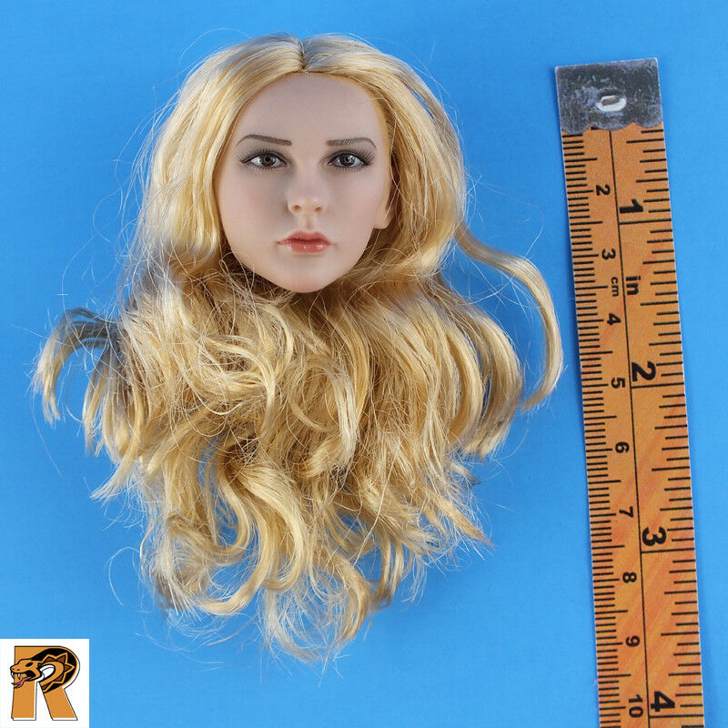 Cowgirl - Head w  Blonde Rooted Hair - 1 6 Scale - Phicen Action Figures