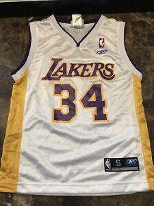 NBA LA Lakers Reebok Youth Small Shaquille O' Neal #34 Gold ...
