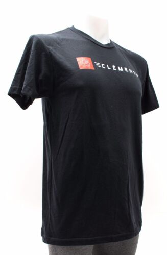 Clement Men Adult Short Sleeve Casual Fitted Cotton T-Shirt Bike Cycling Black