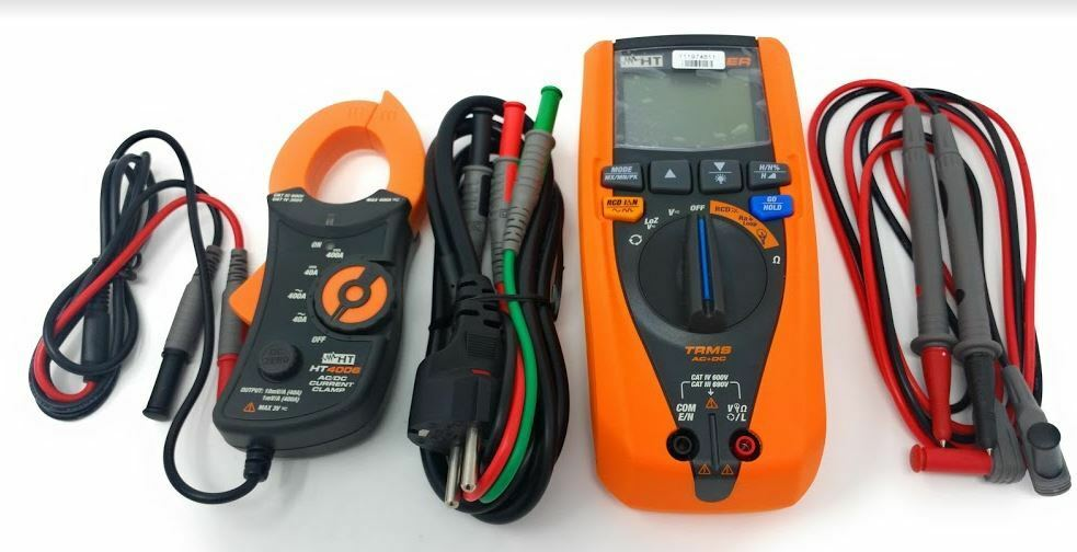 HT JUPITER tester Multifunzione verifica sicurezza elettrica + PINZA STANDARD