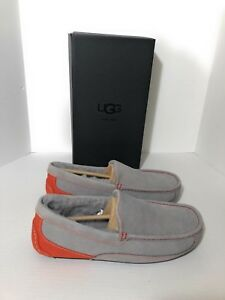 78187bc9ef UGG ASCOT SEAL GRAY ORANGE SHEEPSKIN SLIPPERS Loafers US 9 NEW With ...