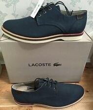 Lacoste Sherbrooke Mens Casual Lace Up Shoes Uk10 Eu44.5 Dark Blue New RRP£95.00
