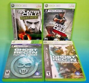4-Tom-Clancy-039-s-Games-Ghost-Recon-Warfighter-Splinter-Cell-Microsoft-Xbox-360