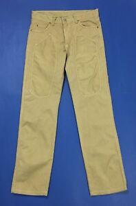 Cotton-star-jeans-pantalone-uomo-w32-tg-46-usato-beige-straight-slim-chino-T2995
