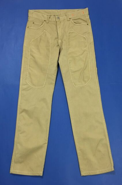 Cotton star jeans pantalone uomo w32 tg 46 usato beige straight slim chino T2995