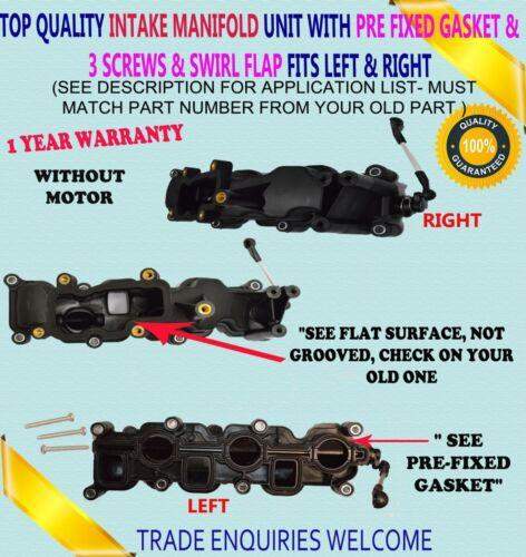 X2 PAIR INTAKE MANIFOLD MODULE FOR AUDI A4 A6 A8 Q5 Q7 VW TOUAREG 2.7 D 3.0 D